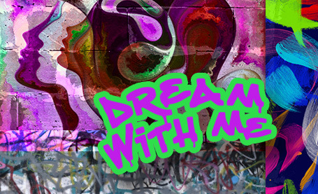 poster with graffiti